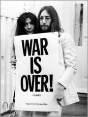 Foam board print  Yoko & John - War is over!