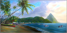 Acrylic print  Soufriere Beach - Jonathan Guy-Gladding