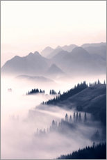 Canvas print  Misty mountains - Sisi And Seb
