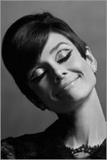 Canvas print  Audrey smiling - Celebrity Collection
