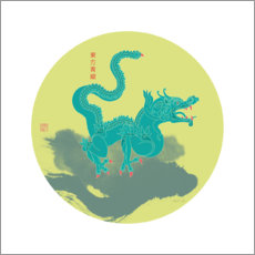 Canvas print  Azure Dragon of the East - Thoth Adan