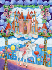 Premium poster  Princess and the unicorn in the magic land - Atelier BuntePunkt