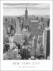 Aluminium print  New York City - Art Couture