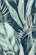Premium poster  Palm leaves collage - Art Couture