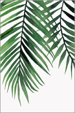 Premium poster  Green leaves II - Art Couture
