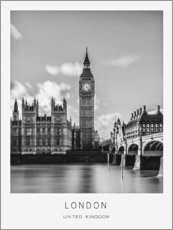 Acrylic print  London - Art Couture