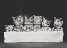 Premium poster Kitten at the table, vintage