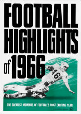 Canvas print  Football Highlights 1966 - Advertising Collection