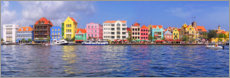 Canvas print  Colorful harbor buildings of Willemstad, Curacao