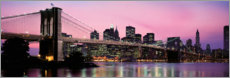 Acrylic print  Brooklyn Bridge at dusk
