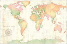 Canvas print  Bright World - Julia Purinton