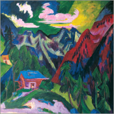 Canvas print  The Klosterser mountains - Ernst Ludwig Kirchner