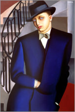 Acrylic print  Portrait of the Marquis of Afflitto in the staircase, 1926 - Tamara de Lempicka