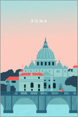 Acrylic print  Illustration of Rome - Katinka Reinke
