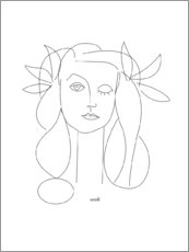Wood print  Homage to Picasso - Annli