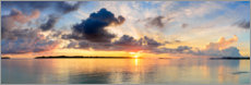 Premium poster Golden morning over the tropical sea