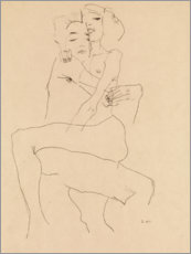 Aluminium print  Couple embracing - Egon Schiele