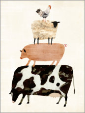 Premium poster  Animals on the farm - Victoria Borges