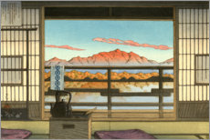Acrylic print  Morning at Hot Spring Resort in Arayu - Kawase Hasui