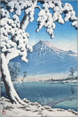 Premium poster  Fuji after the snow in Tagonoura Bay - Kawase Hasui