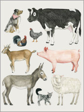 Canvas print  Farmyard family III - Grace Popp