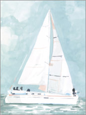 Aluminium print  Small sailboat - Emma Scarvey
