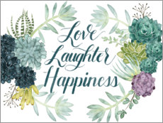 Canvas print  Love laughter happiness (english) - Grace Popp