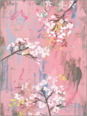 Acrylic print  Cherry blossoms on pink - Melissa Wang