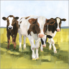 Wall sticker  Cows in the pasture II - Victoria Borges