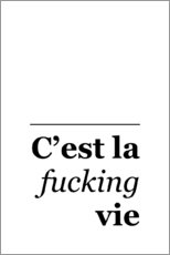 Canvas print  C'est la Fucking Vie - Typobox