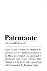 Gallery print  Godmother definition (German) - Pulse of Art