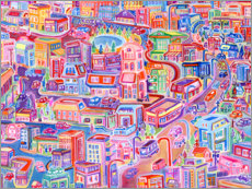 Foam board print  Big City Feeling - Josh Byer