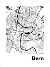 Acrylic print  City map of Bern - 44spaces