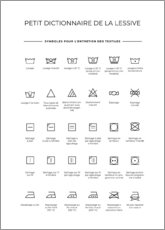 Premium poster Washing and Care Symbols (French)