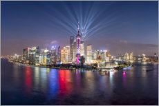 Premium poster Light show over Pudong