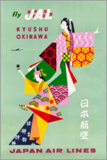 Canvas print  Japan Air Lines - Travel Collection