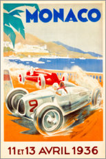 Acrylic print  Grand Prix of Monaco 1936 (French) - Travel Collection