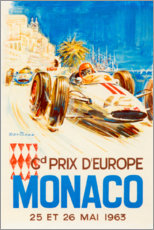 Acrylic print  Grand Prix of Monaco, 1963 (French) - Travel Collection