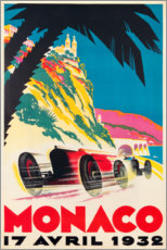 Canvas print  Monaco 1932 (French) - Travel Collection