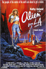 Wood print  Alien from L.A. - Entertainment Collection