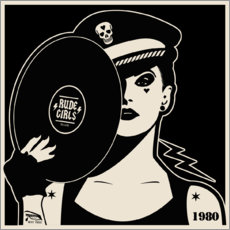 Canvas print  Rude Girls Records I - dolceQ