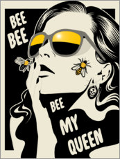 Wall sticker  Bee my queen - dolceQ