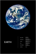 Premium poster  Earth (English) - Art Couture