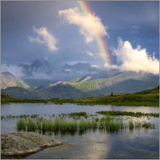 Premium poster  Rainbow in the Alps - Tobias Richter