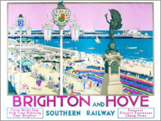 Premium poster  Brighton and Hove - Kenneth Shoesmith
