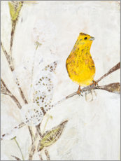 Canvas print  Yellowhammer on a branch - Kerstin Ax