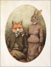 Canvas print  Mr. Fox and Mrs. Rabbit - Mike Koubou