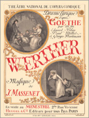 Premium poster The sufferings of young Werther (French)