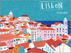 Premium poster  Lisbon by the sea - Jean Claude