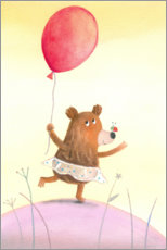 Premium poster  Little dancing bear - Dubravka Kolanovic